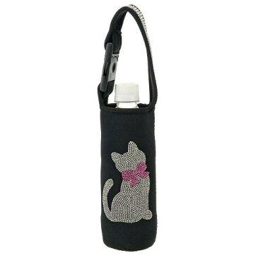 ボトルホルダー リボンネコ ペットボトルケース(哺乳瓶/水筒/折りたたみ傘/ねこ/猫)ジュエリーホルダー【メール便も可能】