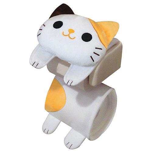 ねこのしっぽの物語 ネコのロールペーパーホルダー ミケ猫(トイレットペーパーホルダー 三毛)[宅配便配送(メール便とネコポスは不可)]