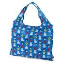 【ディック・ブルーナ】ミッフィー 折り畳みマイバッグ ブルー キャット花(エコバッグ/サブバッグ)【メール便も可能】