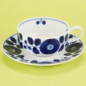 白山陶器 ブルーム ティーカップ&ソーサー(ティー碗皿)[宅配便配送(メール便とネコポスは不可)]