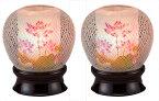 【お盆提灯・盆ちょうちん】【送料無料】【霊前灯】一対 花まゆ1号(蓮華)レインボー LED【初盆】