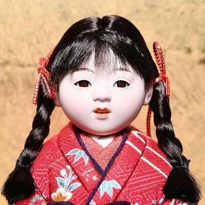 【雛人形】【ひな人形】【市松人形】5号京友禅夫婦木目込市松人形:マホガニー木製ケース:芳俊作【木目込市松人形】【浮世人形】 画像2