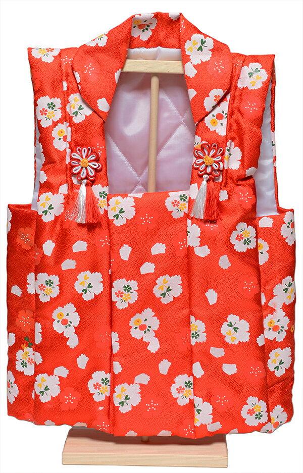 【雛人形】初節句祝着:桜花柄被布スタンド付 H【ひな人形】【被布】