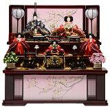 【雛人形収納飾】京小十番親王小芥子官女:桜の宴雛:平安翠泉作【雛人形】【親王飾】