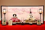 【京雛】薔薇唐草文之御束帯平安寿峰作−人形のフタバ【送料・代引手数料サービス】