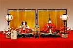 【京雛】南天文朱華染之御束帯平安寿峰作−人形のフタバ【送料・代引手数料サービス】