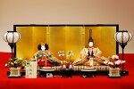 【京雛】八弁唐草之御束帯平安寿峰作−人形のフタバ【送料・代引手数料サービス】
