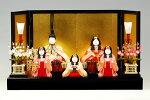 【木目込み雛】瑞花雛官女付真多呂作−人形のフタバ【送料・代引手数料サービス】