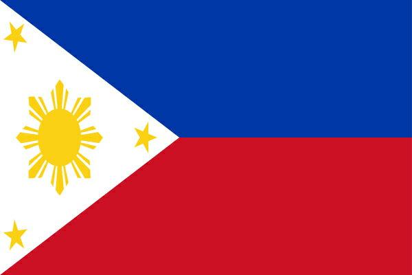 【外国旗】フィリピン国旗(テトロントロピカル) サイズ:70×105cm【領収書発行】