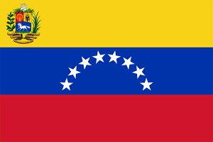 国際交流の場に各国の公式国旗をご利用下さい。【外国旗】ベネズエラ共和国国旗(テトロントロ...