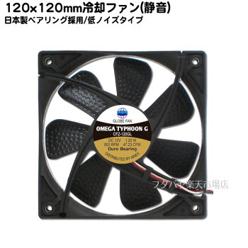 究極静音120mmケースファン回転数900rpmAINEXCFZ-120GLA●究極静音10.8dB(A)●OMEGAブレードHX●日本製ベアリング