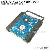 2.5インチドライブ→3.5インチサイズ変換マウンタ変換名人 HDM-25/35P●ワンタッチボルトレス設計●9.5mm/7mm厚HDD/SDDに対応●シャーシ取付ピン附属