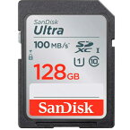 クラス10&UHS-I 高速SDXCメモリー 128GBSANDISK Ultra SDSDUNR-128G●CLASS10&UHS-I高速書込●128GB●耐X線仕様●最大読込100MB/s