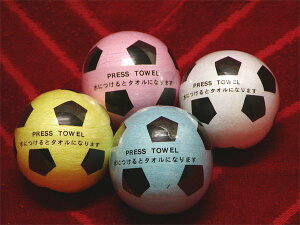 圧縮タオル(プレスタオル)サッカーボール