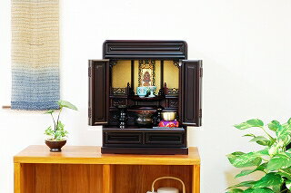 仏壇セット 伝統型仏壇 セルクル 16号 紫檀調 小型 高50.5cm【02P03Dec16】:仏壇・仏具のふたきや支店