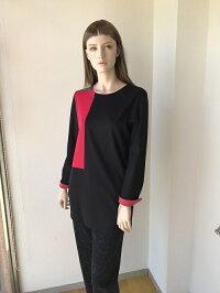 カットソーモンドリアンブロック配色ブラウスミセスファッションミセスファッション人気おしゃれ通販専門店40代50代60代の方にお勧め