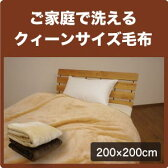 軽量 ニューマイヤー 毛布 ブランケット クイーンサイズ 200×200cm クィーン 大きい 防寒 洗える やわらか あたたか あったか 暖かい ケット Q 【S2】