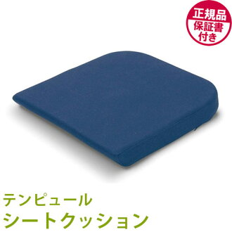 Regular items TEMPUR and Tempur seat cushion ( 40 x 42 x 5 cm ) dark blue Tempur / seat / cushions