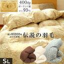 【ポイント10倍】【クーポンで1000円OFF】羽毛布団 シ...