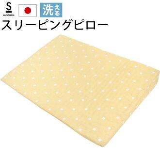 Baby sleeping Pro 100% cotton double gauze wash OK dot pattern beige Japan made