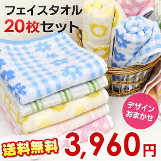Color chef's face towel ( 10 piece set 2) set of 20 cards (34 x 80 cm/20-) たおる/towel/face towel / da CAPO II Chair たおる /towel