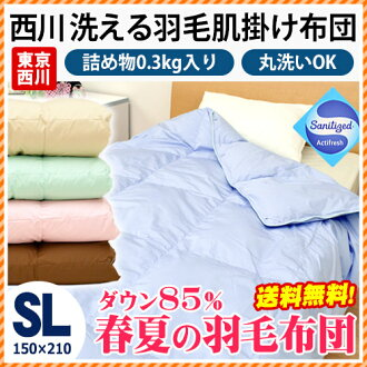 Nishikawa and summer down comforter and feather skin quilt Nishikawa election eat 6-color! East's skin comforter / quilt / comforters skin / / single long summer comforter / duvet skin / skin futons No.1225 River sanitization sanitary processing washable