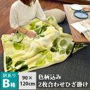 【訳あり・色柄おまかせ】2枚合わせマイヤーひざ掛け毛布 ゆったりサイズ 90×120cm お昼寝毛布 お昼寝ケット ブランケット