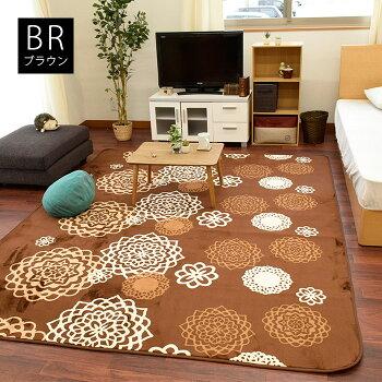 ラグマットホットカーペットカバー2畳洗えるラグカーペット185×185cm2帖床暖房