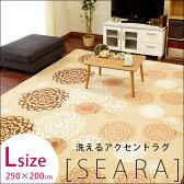 ラグマット ラグ 洗える ホットカーペットカバー 3畳 カーペット 200×250cm 3帖 床暖房 送料無料