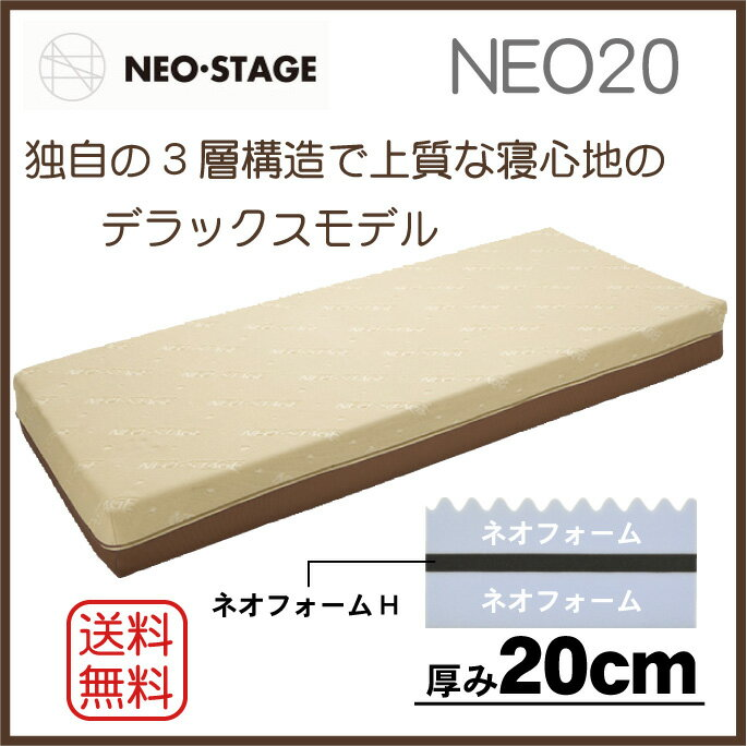 【期間限定 20%OFF】 西川リビング NEO STAGE ネオステージ NEO20 マットレス シングルサイズ 高反発マットレス 1枚もの:布団とパジャマ「ふとんハウス」