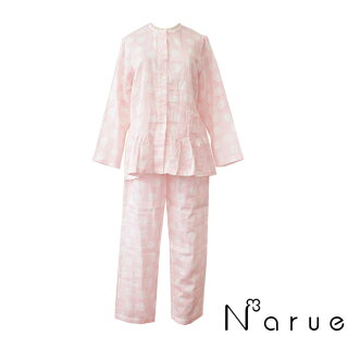 【NARUE】ナルエー2重ガーゼパジャマFサイズ(M~Lサイズ)ピンクパジャマ・ナイトウェア関連商品【あす楽対応】