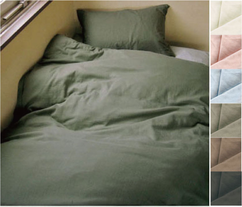 ソフト二重ガーゼ織り(日清紡) 無地掛けふとんカバー クィーンサイズ 210X210cm 綿100% 日本製