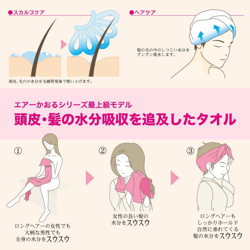 頭皮・髪の水分吸収を追及したタオル