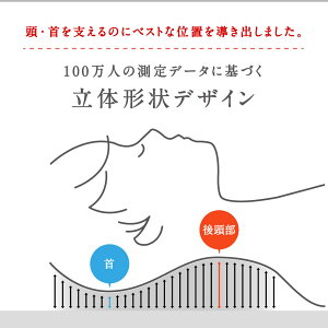 枕肩こり100万人のデータみんまくレギュラーminmakuREGULARみんなのまくら平均スタンダードじぶんまくら枕まくらマクラピロー頸椎やわらかめ固め43×63cm首頸椎首筋
