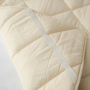 【西川チェーン賞連続受賞】西川ベッドパッドシングル日本製一年中快適♪吸湿、発散に優れたウール!西川リビング洗える羊毛ベッドパッド(200cm用)シングル