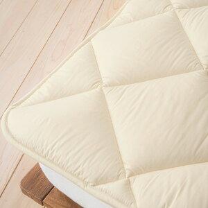 【西川チェーン賞連続受賞】西川ベッドパッドセミダブル日本製一年中快適♪吸湿、発散に優れたウール!西川リビング洗えるベッドパット/ウールSD(200cm用)【送料無料】セミダブル