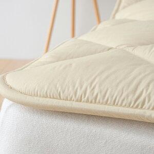 西川ベッドパッドセミダブル日本製一年中快適♪吸湿、発散に優れたウール!西川リビング洗えるベッドパット/ウールSD(200cm用)【送料無料】セミダブル