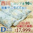 【今だけ枕カバー付 5/2正午まで】高品質でうれしい価格!東京西川 ロシア産ダウン90% 0.4kg ふわふわ&さらさら! 夏用 羽毛布団 ダブル 肌掛け布団 日本製 洗える 西川産業 羽毛肌掛けふとん