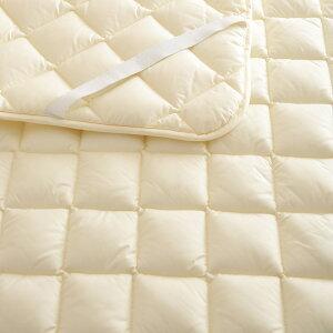 【ベッドパッドセミダブル日本製】洗えるウールベッドパッド羊毛セミダブルウォッシャブルウール100%ベットパットベッドパットセミダブル