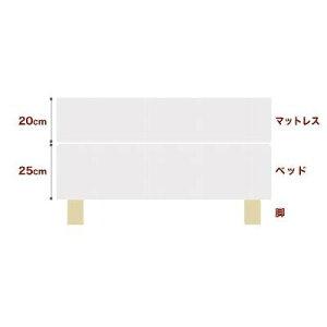セレクトベッドダブルクッションベッド(ベッド+マットレス)ポケットコイル(線の直径1.6mm)脚:木目柄(22cm)ワイドダブルサイズ(152×195cm)生成(キナリ)
