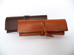 北欧風コンパクトペンケース(Mサイズ)/革 ペンケース/革小物/レザー ペンケース