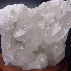 【33】【送料無料】天然水晶クラスター(原石)台座付約422グラムブラジル産クリスタル/浄化/天然石/パワーストーン/風水グッズの置物