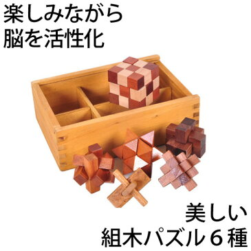 お得なクーポン配信中 天然木の立体ウッドパズル6種セット