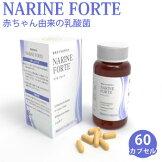 ナリネフォルテ60カプセル健康サプリメントナリネ菌乳酸菌善玉菌ビフィズス菌大腸菌M-17腸内フローラNARINEFORTE