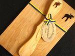 ヘムスロイド【Hemslojd】/ウッドボード&ナイフセット【WoodBoard&KnifSet】/『ヘラジカ』木製プレート【北欧雑貨】【キッチン雑貨】【ビンテージ食器】【ウッドボード】