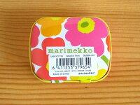 マリメッコMarimekko/ウニッコUnikko/カンケースTinBox(ピルケース)【北欧雑貨】【キッチン雑貨】【ビンテージ食器】
