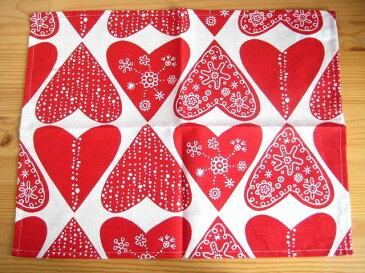 【メール便OK】クリッパン Klippan ハートレッド Heart Red ランチョンマット 2枚1組 北欧 北欧雑貨 ベングト&ロッタ テーブルマット プレゼント お祝い クリスマス
