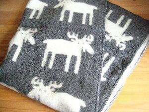 この暖かさとフワフワ感は一生ものです。クリッパン/ムース(ヘラジカ)/ウール ブランケット(ハ...