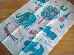 カウニステKauniste/動物園Zoo/キッチンタオル(クロス)【北欧雑貨】【キッチン雑貨】【ビンテージ食器】【キッチンタオル】
