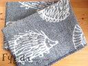Klippan クリッパン×リサラーソンのコラボ イギー Iggy はりねずみ ウール ミニ ブランケット グレー 北欧雑貨 北欧 お祝い プレゼント ギフト ひざかけの写真